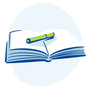 Open book icon showing vacancies and job opportunities